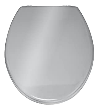 Wenko 152256100 Prima Toilet Seat, Silver Coloured: Amazon.co.uk ...