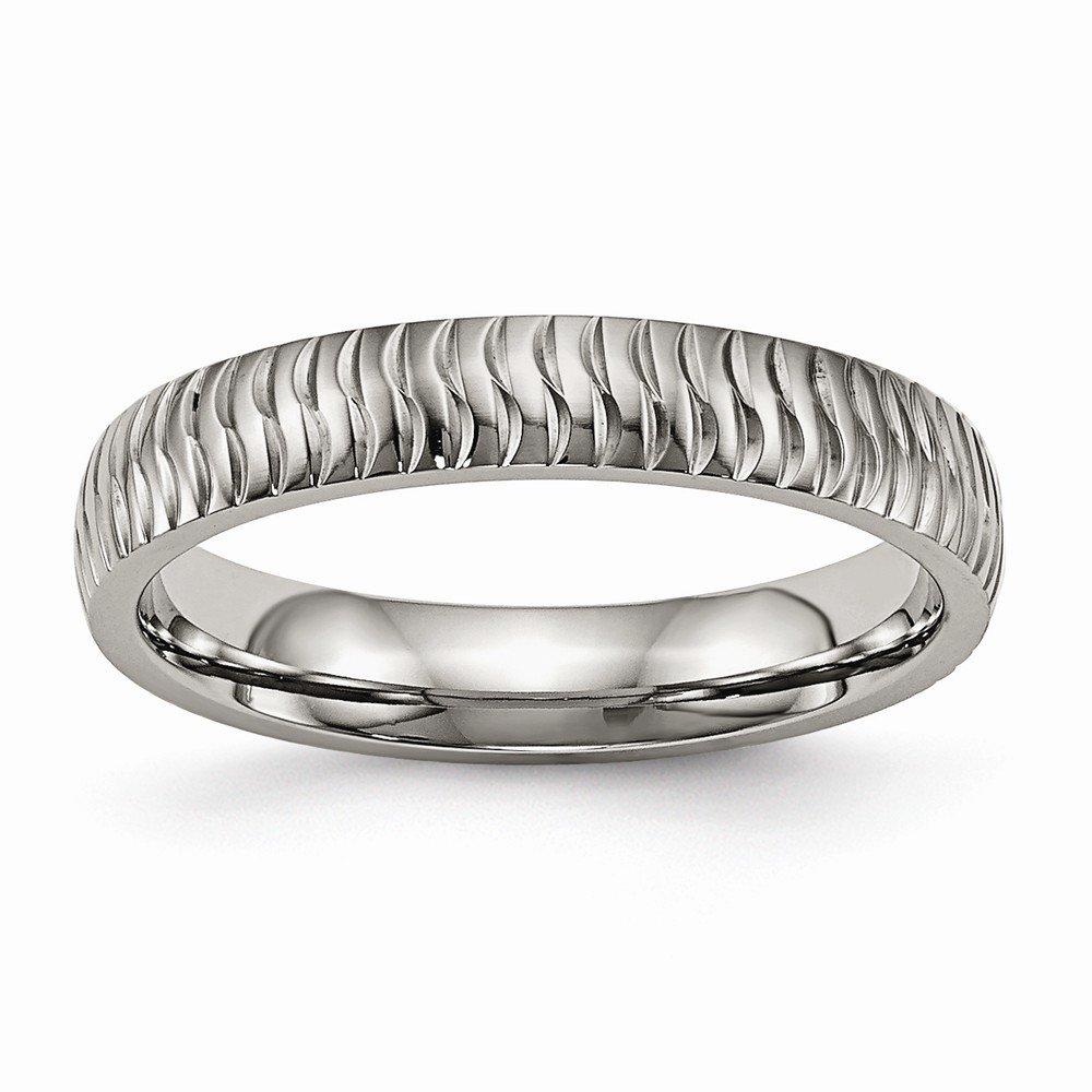 Bridal Wedding Bands Decorative Bands Titanium Polished Textured Ring Size 13