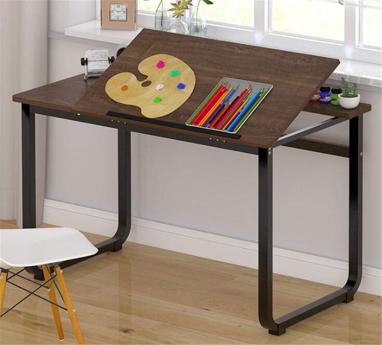 コンピュータデスクアートデザイン作成テーブルデスク10身長100×50×72センチ学生寝室研究テーブルライティングデスク A B07RTG56JH A