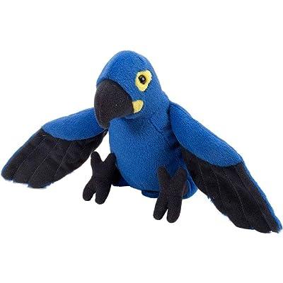 Wild Republic Hyacinth Macaw Plush, Stuffed Animal, Plush Toy, Gifts for Kids, Cuddlekins 8 Inches: Toys & Games