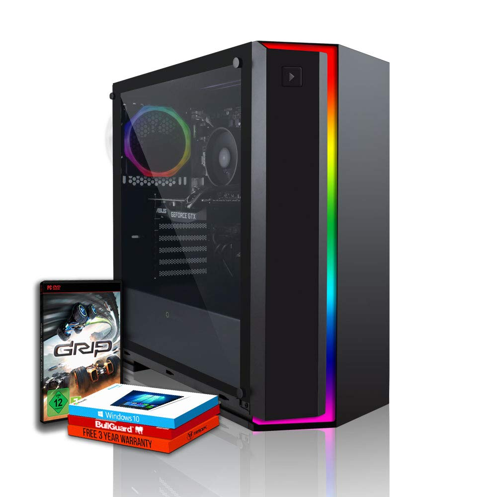 Fierce RGB Gaming PC - AMD Ryzen 5 2400G 3 9GHz, AMD Vega 11 Graphics, 8GB  2666MHz, 1TB Hard Drive, Windows 10 Installed (Alpha 931257)
