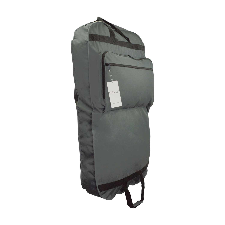 DALIX 39'' Grey Business Garment Bag Pocketsfor Suits Dresses Clothing Foldable