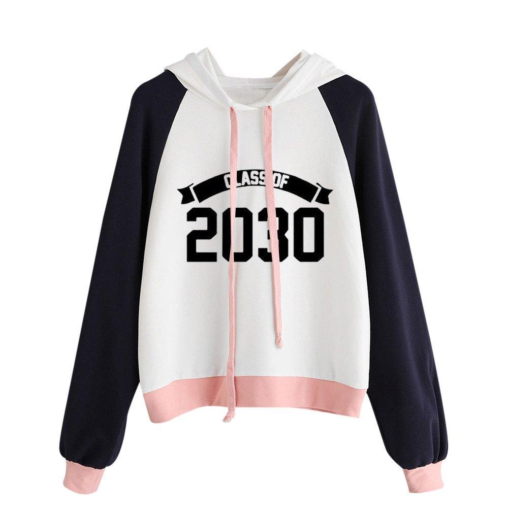 Kaitobe Womens Raglan Long Sleeve Hoodie Sweatshirts Casual Patchwork 2030 Print Loose Hooded Pullover Blouse Tops