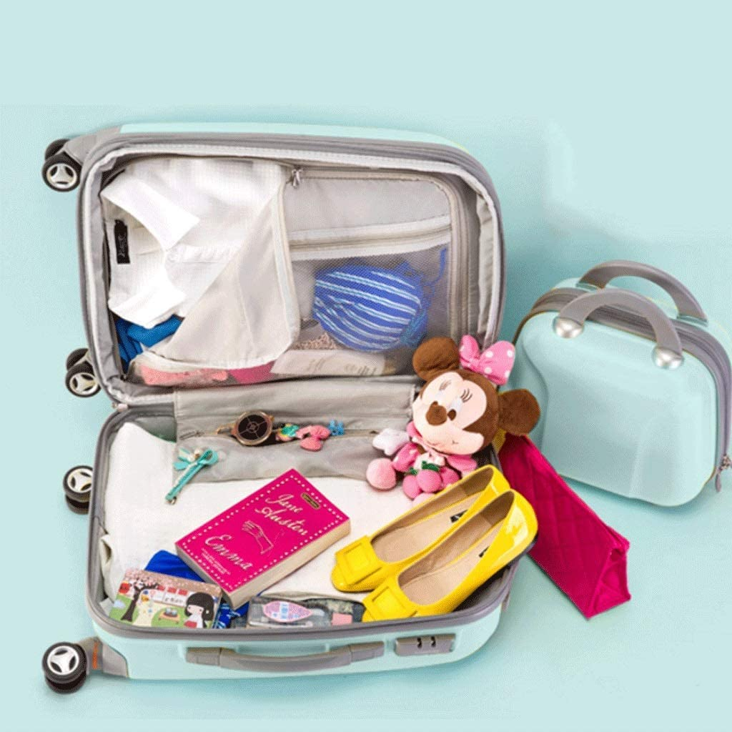 HUANGDA Suitcase 20 inch Suitcase 26 inch Trolley case Female Student 24 inch Suitcase Set 7 Colors Color : Pink, Size : 26 inches