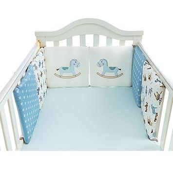 Reversible Cot Bumper Elphants And Polka Dots Unisex Nursery Bedding Sets