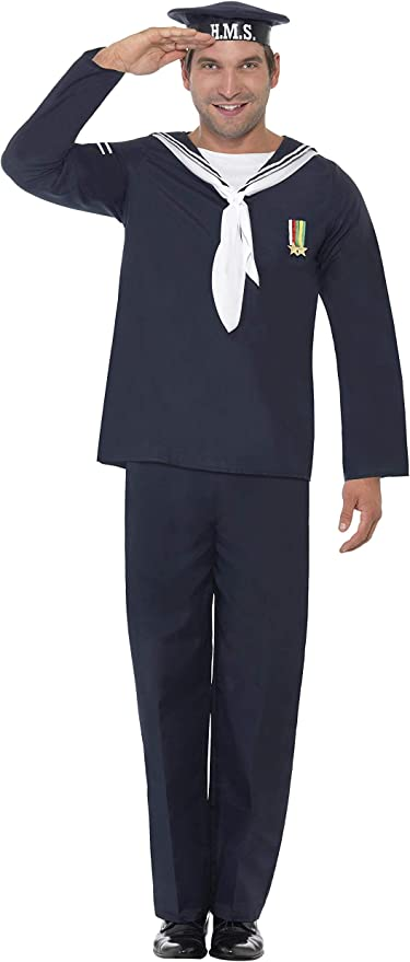 1940s UK and Europe Men's Clothing – WW2, Swing Dance, Goodwin Smiffys Naval Seaman £16.98 AT vintagedancer.com