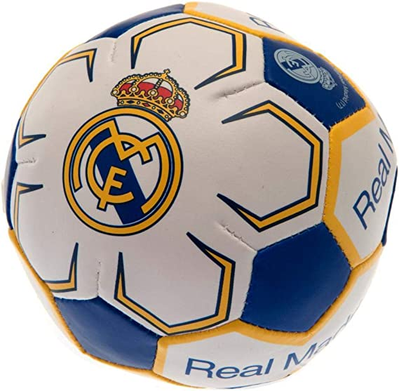 Real Madrid CF - Pelota blanda 10cm (Talla Única) (Blanco ...