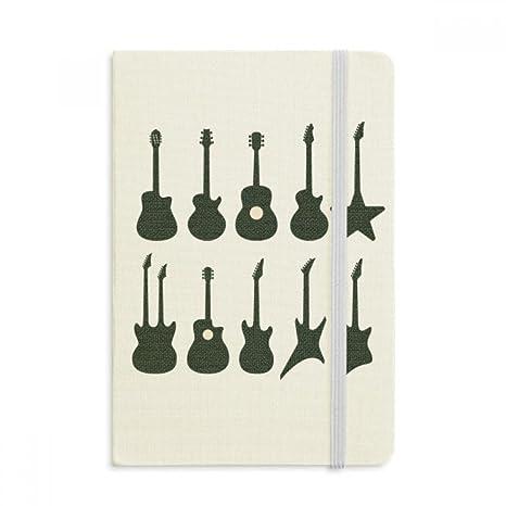 DIYthinker Guitarra eléctrica Música vitalidad Suena Notebook Tela cubierta dura clásico Diario Diario A5 A5 (