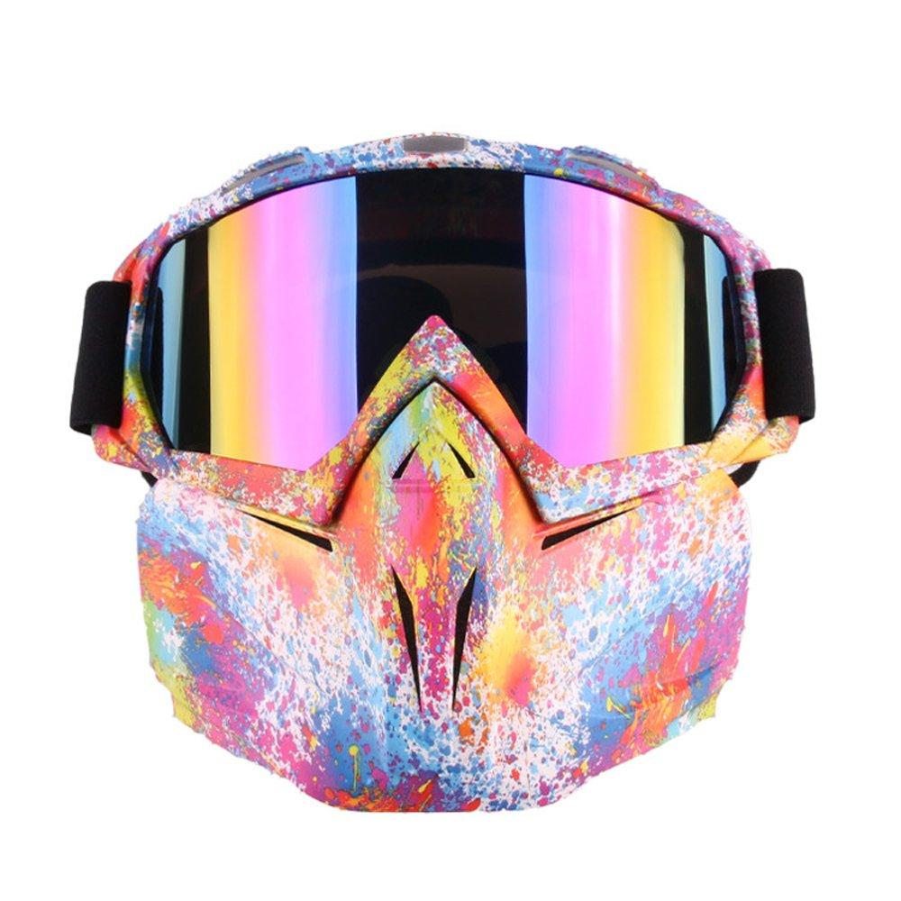 Occhiali da moto Harley maschera stile rimovibile indossare con occhiali da sole casco moto