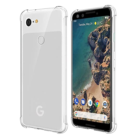 huge discount 5cecf 9c33e Qoosea Compatible with Google Pixel 3 Case Cover Clear