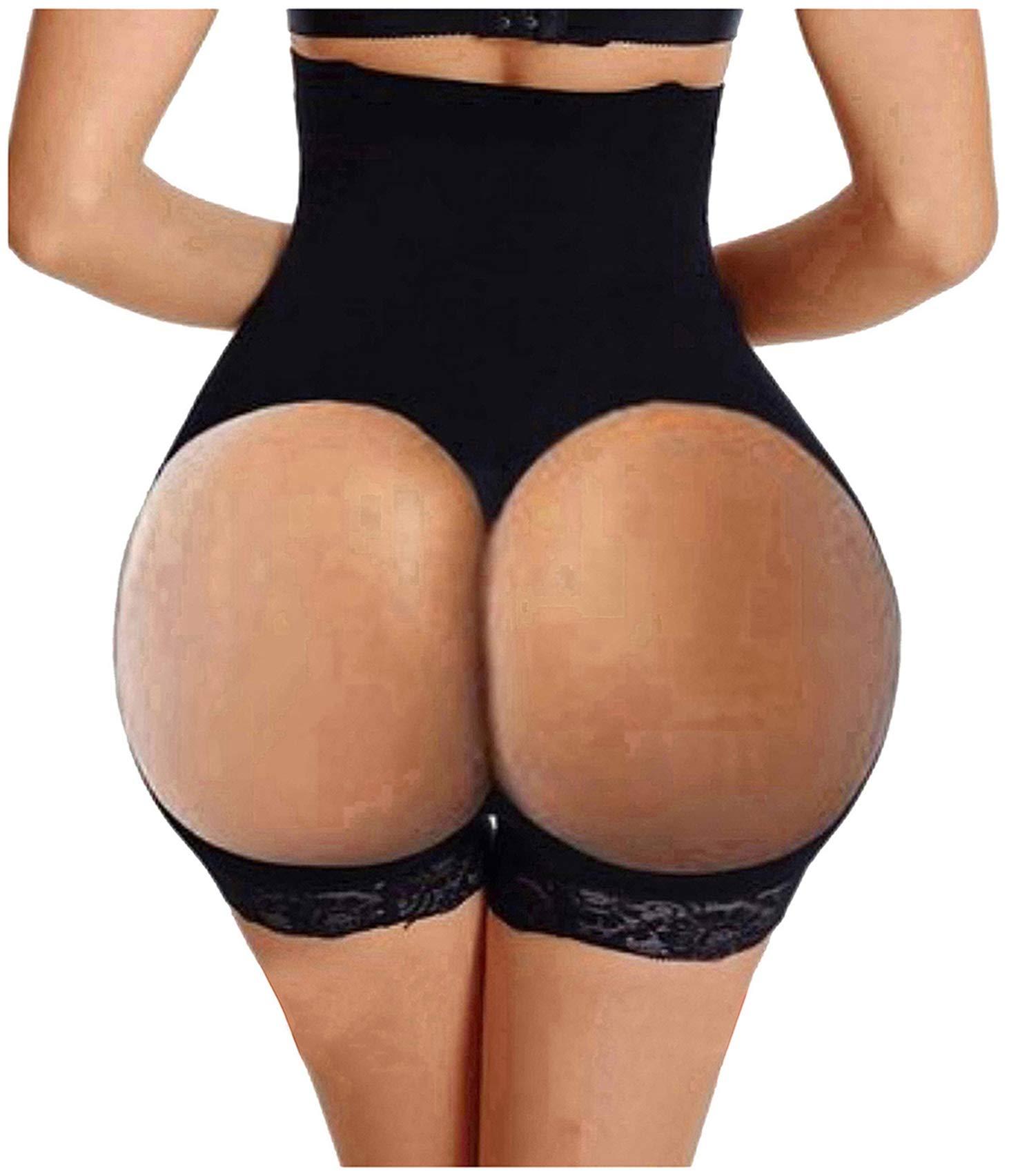 Gotoly Hourglass Figure Butt Lifter Shaper Panties Tummy Control High Waisted Boyshort (Black, 3XL/4XL(Prime))
