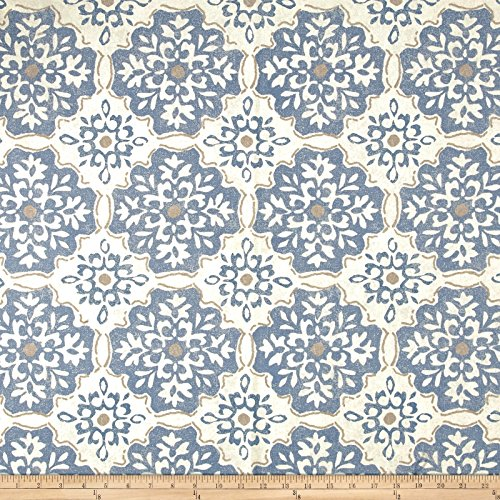 Magnolia Home Fashions LaGrange Fabric, Denim