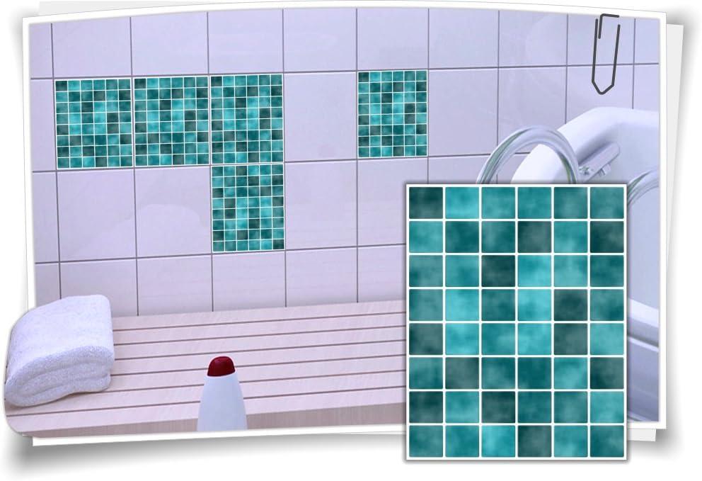 Fliesenaufkleber Fliesenbild Fliesen Aufkleber Sticker Fliesenimitat Mosaik Deko
