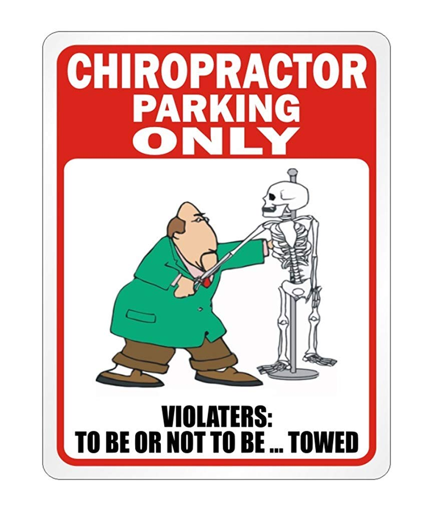Parking Sign Aluminum Metal Ca565urs Chiropractor PARKING ONLY Occupations