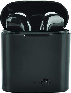 PRIXTON TWS100B - Auriculares Inalámbricos con Bluetooth y Micrófono Integrado, Incluye Estuche de Carga,