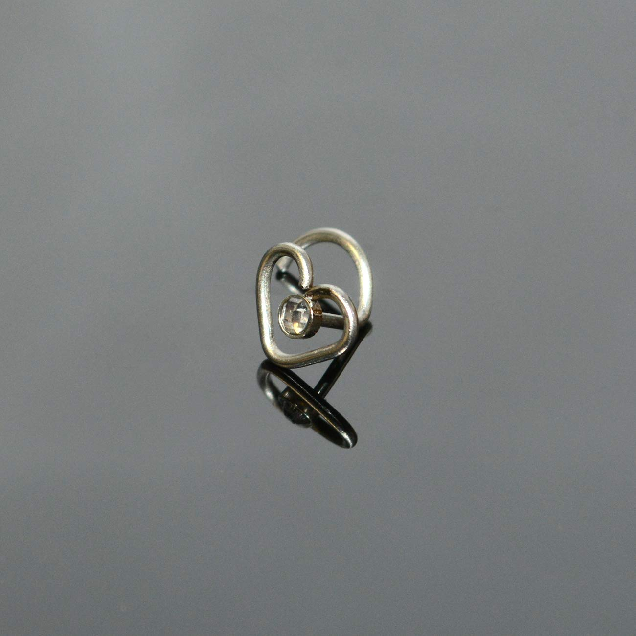 316L Nose Ring 18g Nose Piercing Ring with CZ Stone Nose Stud