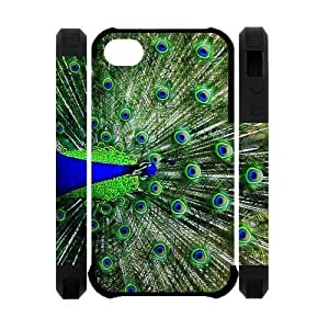 Generic Unique Otterbox-- Design Peacock Pattern Polymer Case Cover for iPhone4 iPhone4S