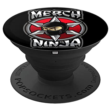 Amazon.com: Merch Ninja On Black - PopSockets Grip and Stand ...