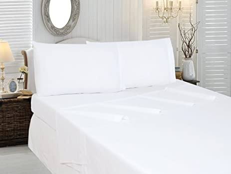 HS Linen Bedding Collection Luxury Hotel Bed Sheets Set Egyptian Cotton 400  Thread Count 4 PCs