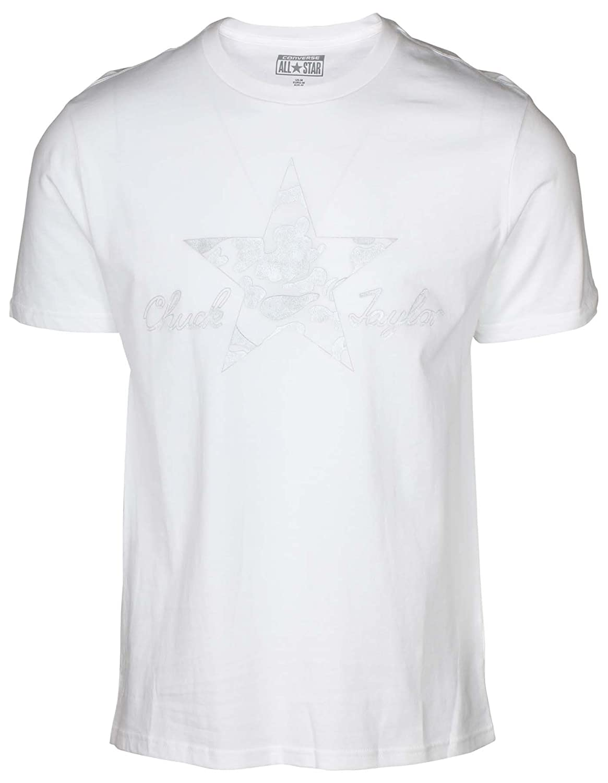 2b4b1579cef6 Converse Mens Reflective Camo T-Shirt in White-Crew Neck-Ribbed  Collar-Chuck  Converse  Amazon.co.uk  Clothing