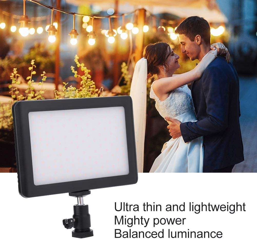 """Outdoor Shooting Fill Light with 1//4""""Hot Shoe Suitable for DSLR Jadeshay DSLR Light-Pad192 3200-6000k LED Video Lighting Camcorder and Tripod"""