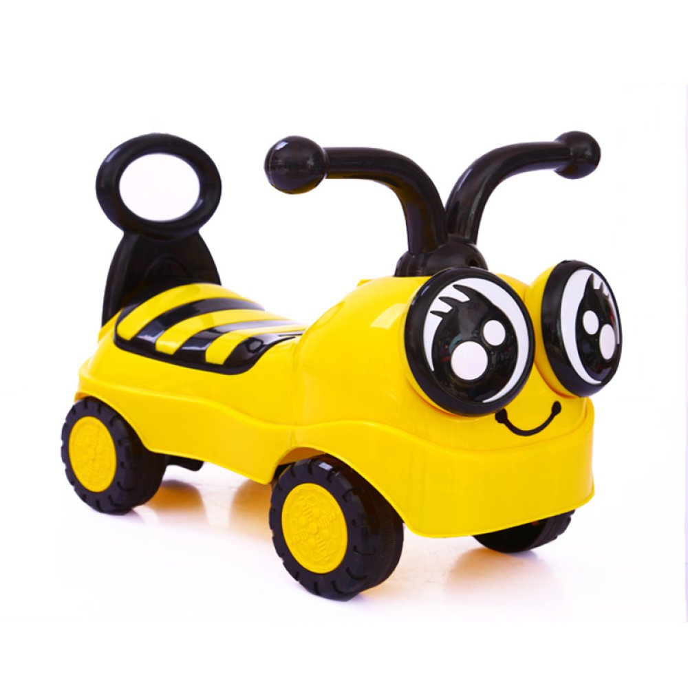 JZM Little Bee Children Baby Walker 1/2-3 Year Old Baby Scooter Twist Car Four-Wheel Music