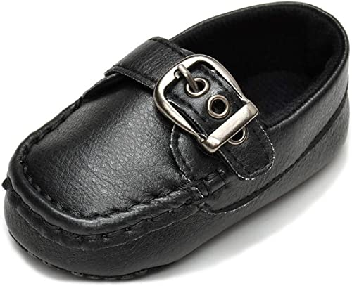 Kids Girls Boys Moccasin Soft Loafers PU Faux Leather Flats Slip-on Crib Shoes