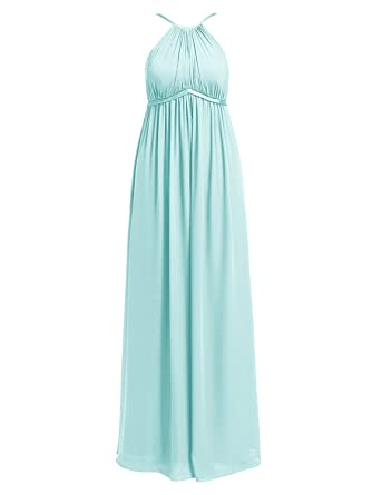 Cdress Womens Maternity Long Bridesmaid Dresses Chiffon Plus Size Maxi Eevning Prom Gowns Aqua ...