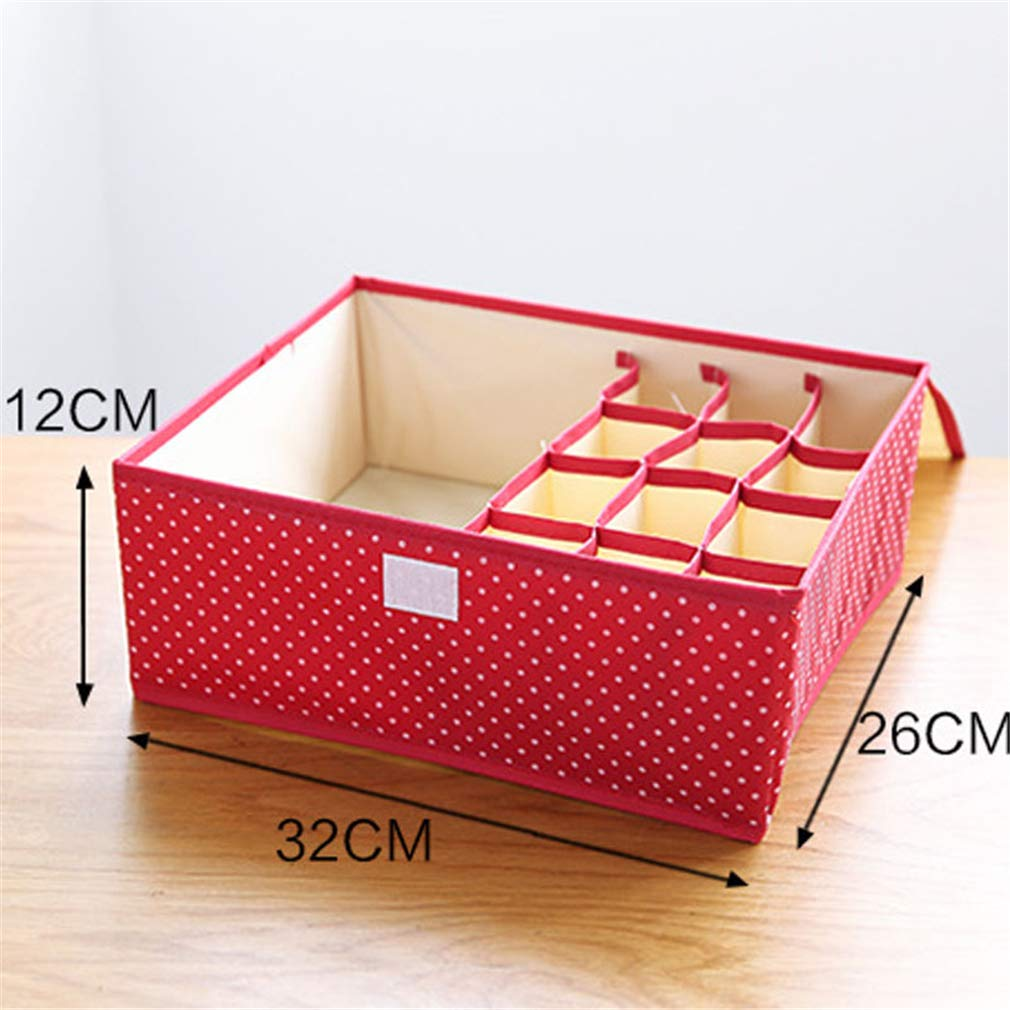 VADOLY Foldable Divider Storage Bra Box Non-Woven Fabric Folding Cases Necktie Socks Underwear Clothing Organizer Home Container