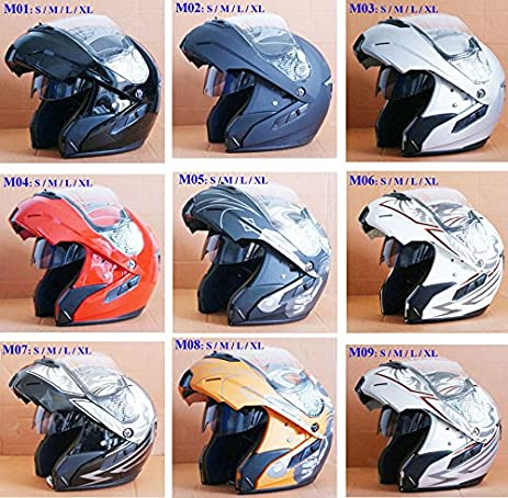 Amazon.com: WMN_TrulyStep New Dual / 2 Visors Modular Motorcycle Scooter Vespa Biker Full Open Face Jet Flip Up Integrated Helmet,8 Colors (XL 61cm / 62cm, ...