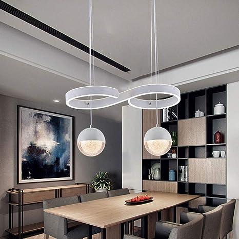 LED lámpara colgante cristal bola y curvas de diseño de luces de ...