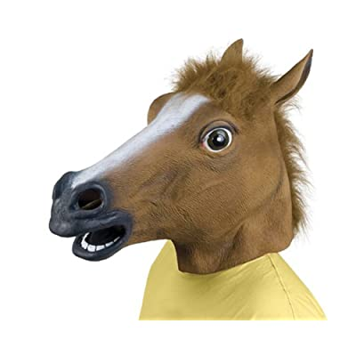 Queenshiny Latex Horse Head Mask