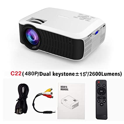 Amazon.com: LCD Projectors - C23K Mini Projector 2600 Lumens ...