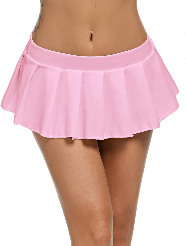 Avidlove Women Sexy Role Play Pleated Mini Skirt Ruffle Lingerie for Schoolgirl