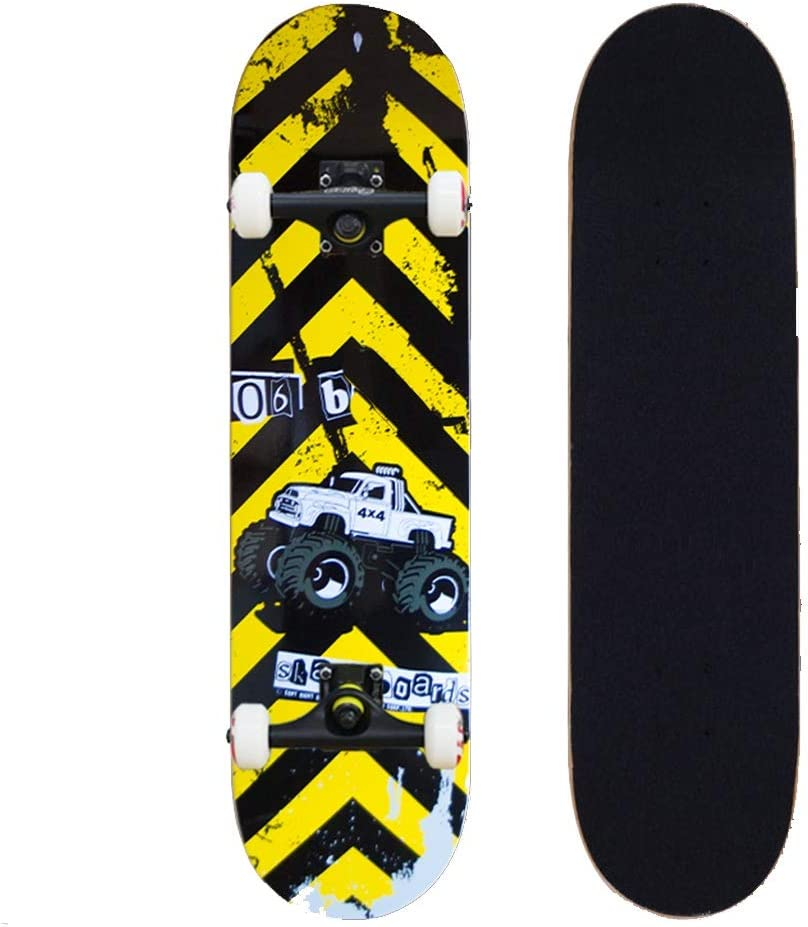 KTYXDE スケートボードストリートロードボードアウトドアスポーツ玩具ビギナーダブルスイングブラシ