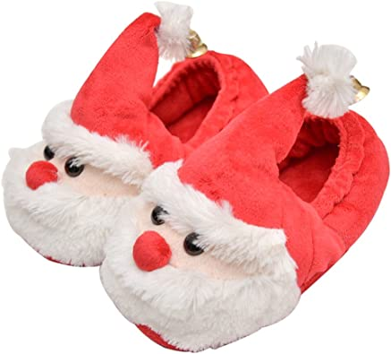 OULII Christmas Santa Claus Slippers