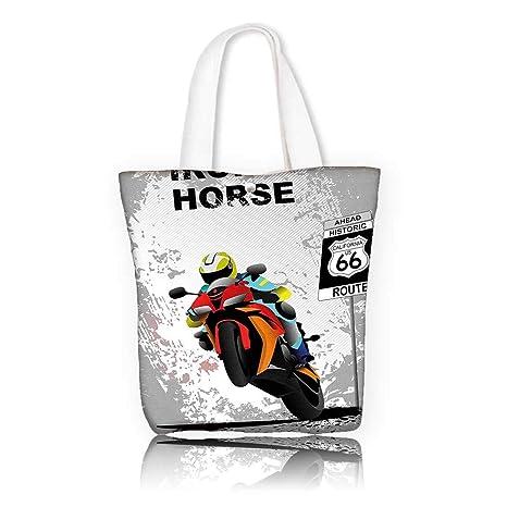 Amazon.com: Canvas Beach Bags -W21.7 x H14 x D7 INCH/for Gym ...