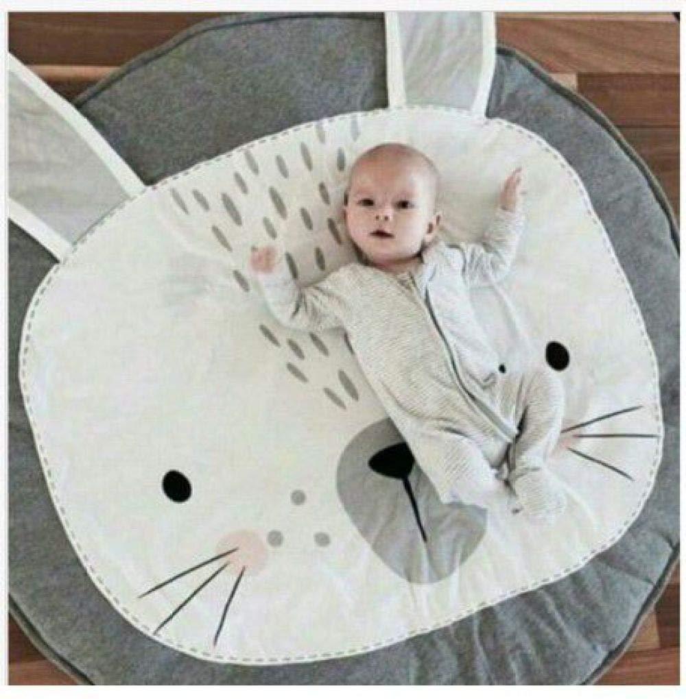 QXMEI Le Panier De Tapis Rampant De Couverture De Jeu De Bébé des Enfants Est Décoré par La Salle,Gray