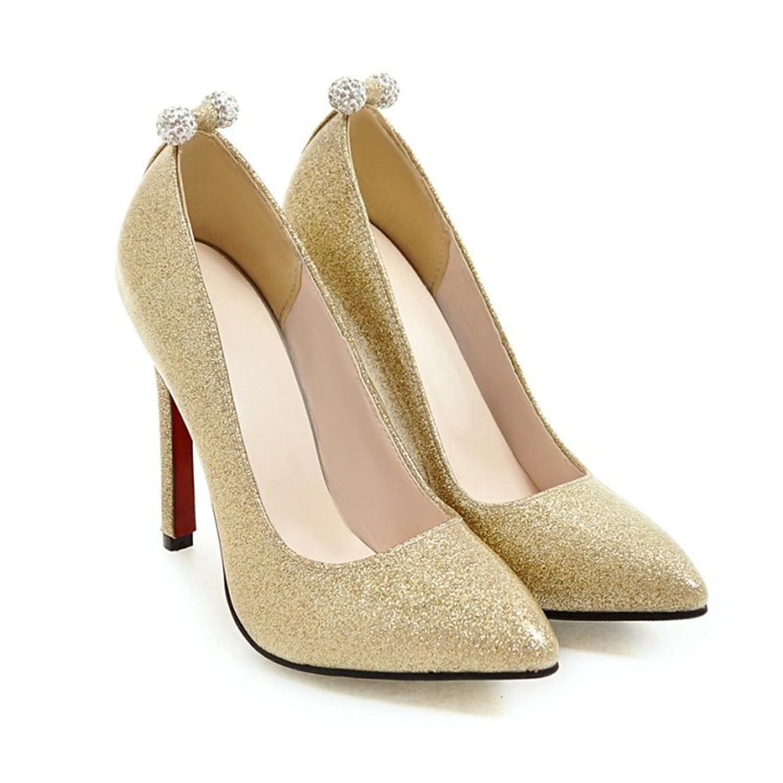 Aisun Damen Glitzer Paillette Lack Low Cut Strass Perlen Stiletto Pumps  Brautschuhe Gold 37 EU: Amazon.de: Schuhe & Handtaschen