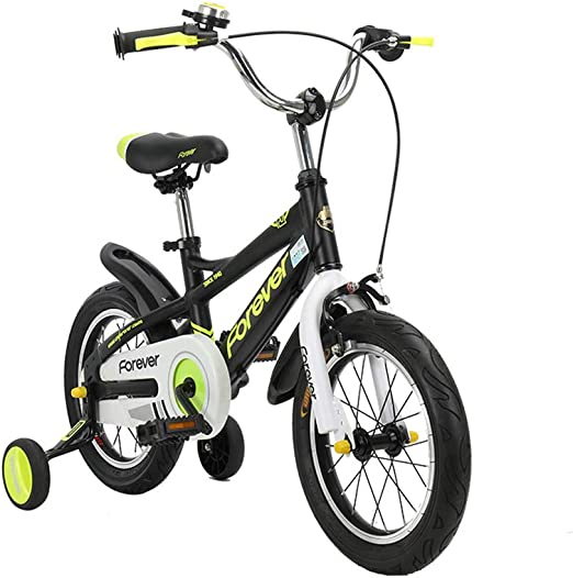 DT Bicicleta para niños Aleación de Aluminio Carro de bebé 4-6-8-9-10 años de Edad, Hombre niña Bicicleta niño Bicicleta (Color : Negro, Tamaño : 16 Inches): Amazon.es: Hogar
