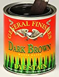 General Finishes Water Based Dye Stain Dark Brown Quart