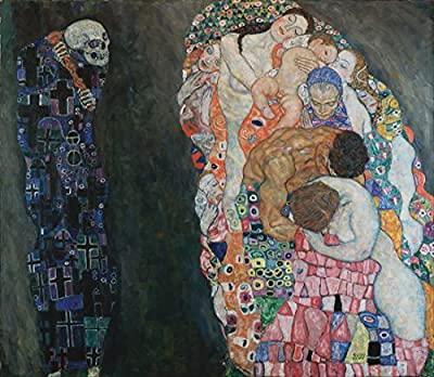 Death and Life By Gustav Klimt. 100% Hand Painted. Oil On Canvas. Reproduction. (Unframed and Unstretched).