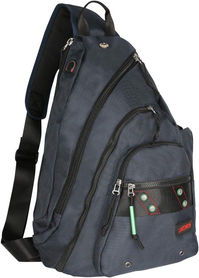 Larswon Sling Backpack, Sling Bag Laptop, Crossbody Bag Men, Shoulder Bags Blue