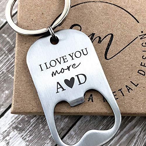 Valentines Day Gift Keychain Bottle Opener Personalized Boyfriend Gift Idea For Him Men
