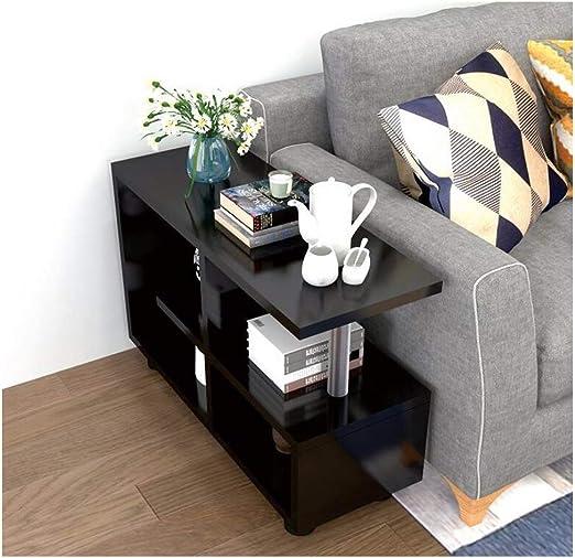 ZHFHA - Mesa de Consola de Madera con 3 estantes para sofá, con estantes de Almacenamiento, Organizador de Oficina, estantería, Sala de Estar, Escritorio: Amazon.es: Juguetes y juegos