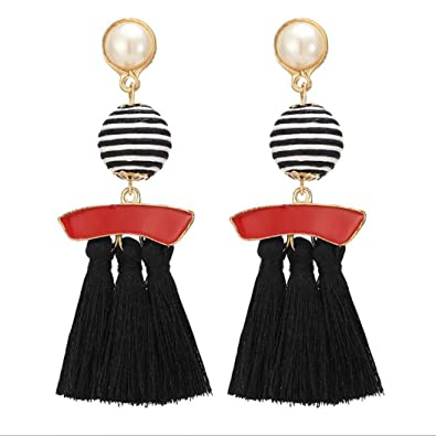 43dddb2d1004 Buy Intiye Women Fashion Jewelry Bohemia Style Ball Decoration Long Stud Earrings  Necklaces Online at Low Prices in India