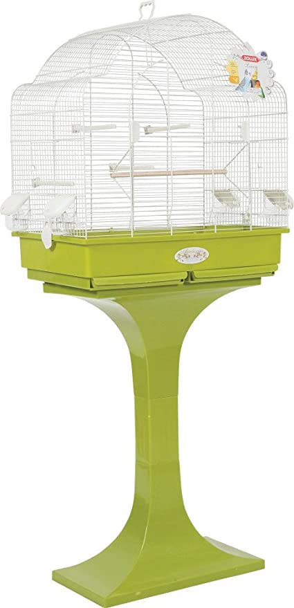 Zolux Louise pie Jaula para periquitos calopsittes/Conures Olive 68,5 x 36 x 135 cm