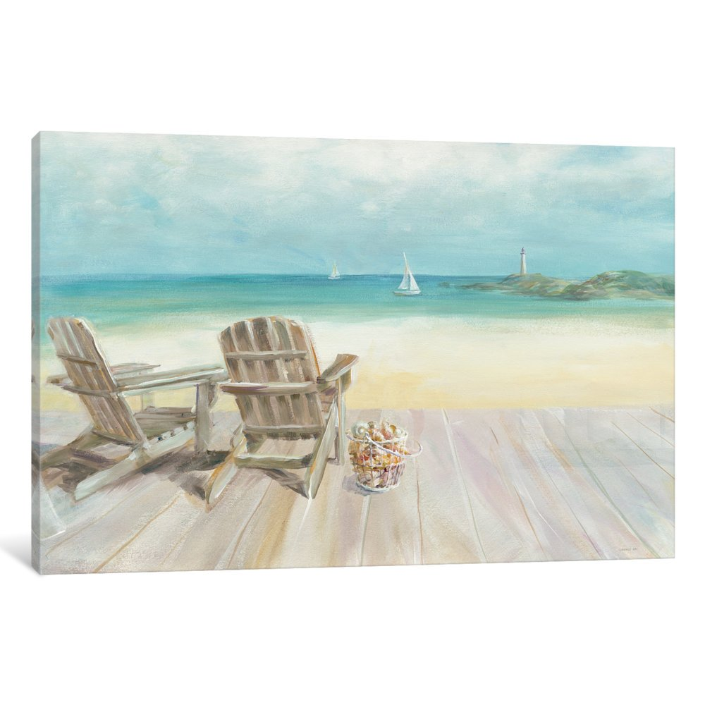 iCanvasART WAC4055-1PC6-40x26 iCanvas Seaside Morning No Window Gallery Wrapped Canvas Art Print by Danhui Nai, 26'' X 1.5'' X 40''