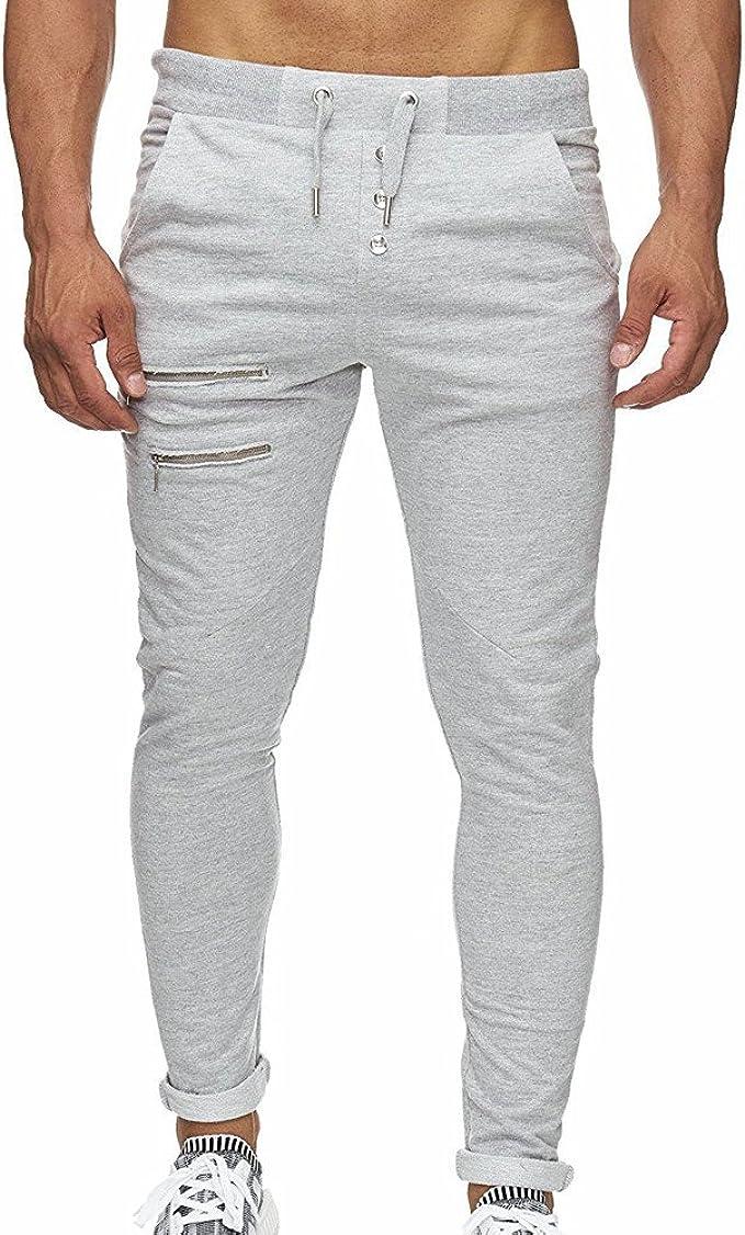Pantalones Casuales Para Hombre Hombres Overoles Skinny Casuales Bolsillo Pantalones De Trabajo Pantalon Basicos Deportivos Gimnasio Jogging Pantalones