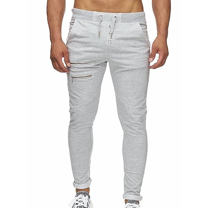 af9805d9bc74b Chándal de Hombres Moda Pantalones de chándal de Hombre Pantalones Casuales para  Hombres Running Yoga Pantalones Deportes  Amazon.es  Ropa y accesorios